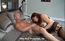 Big boobed MILF having fun with stepson