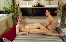 Step sister works at massage parlor